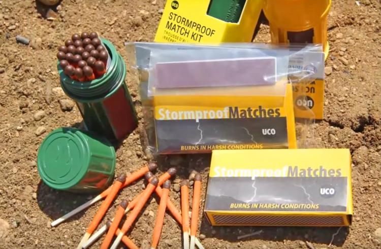 Windproof and Stormproof Matches - UCO Stormproof Match Kit with Waterproof Case
