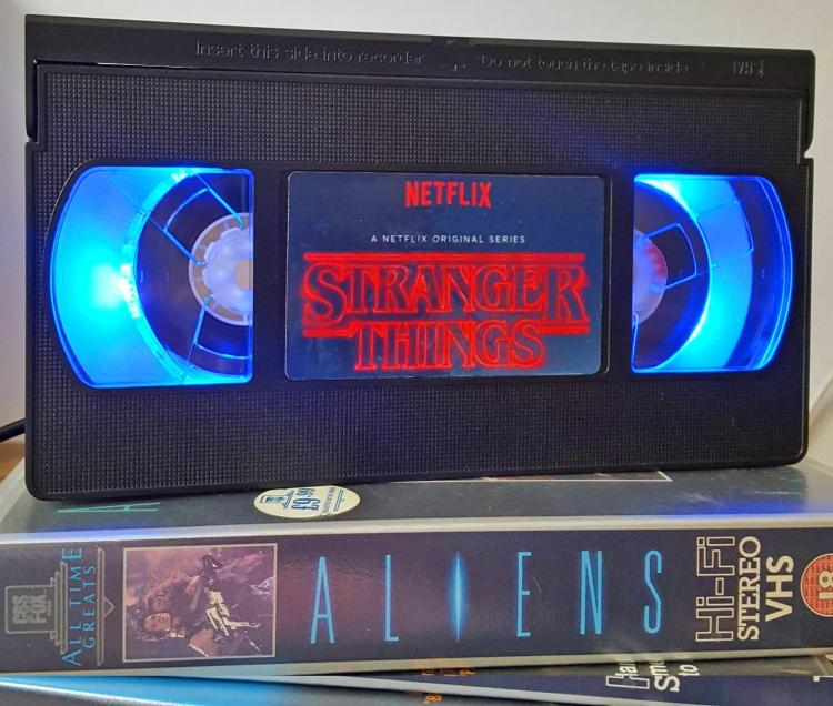 Retro Stranger Things VHS Night-Light