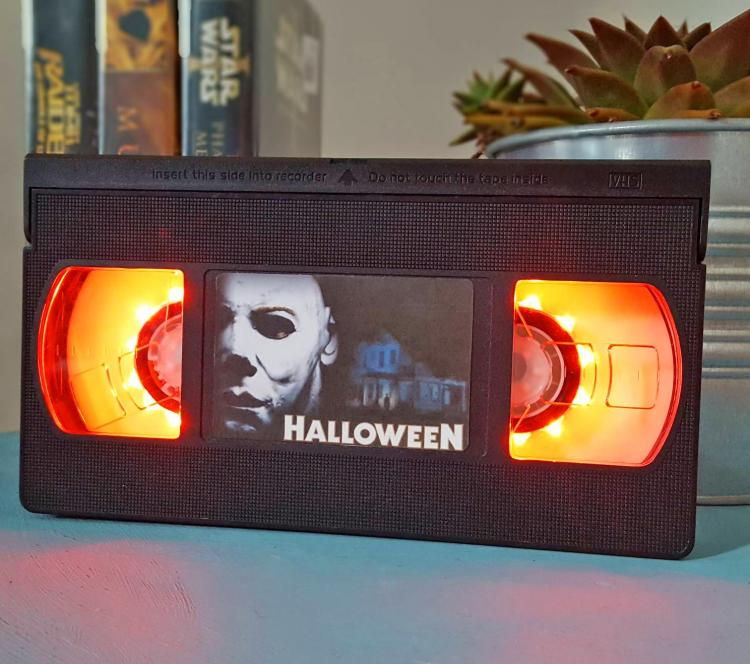 Halloween VHS Night-Light - Retro VHS lamp