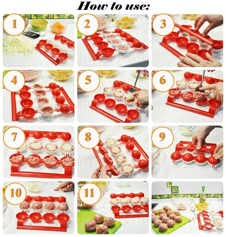 Stuffed Meatballs Maker - Mighty Meatballs Easy Meatball Maker