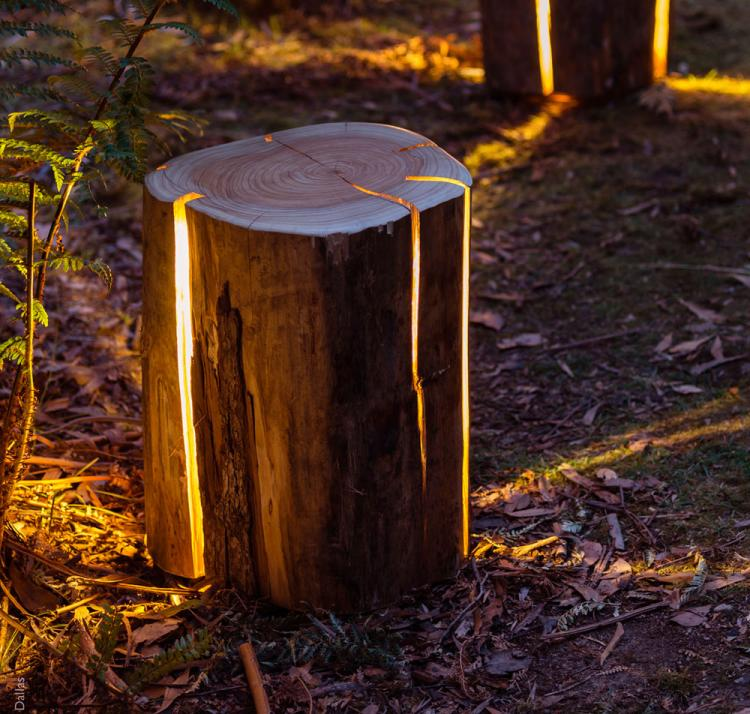 Log Lamp Lamps Made From Salvaged Logs