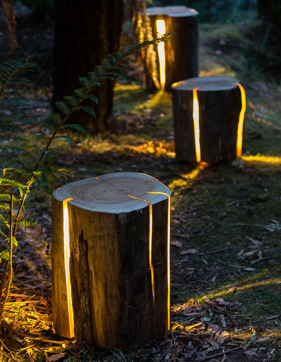 Stump Light - Cracked Log Lamp