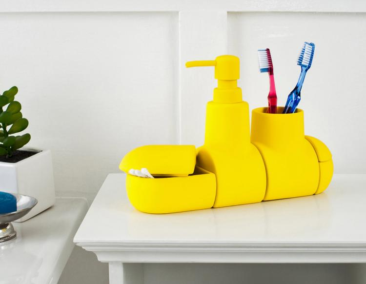 Submarine Toothbrush Holder And