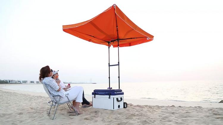 SunDen Smart Cooler and Smart Rig - Umbrella Cooler System