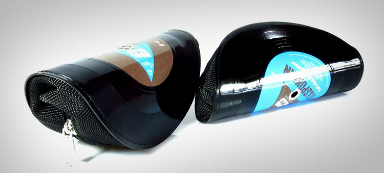 Glasses Made From Old Vinyl Records