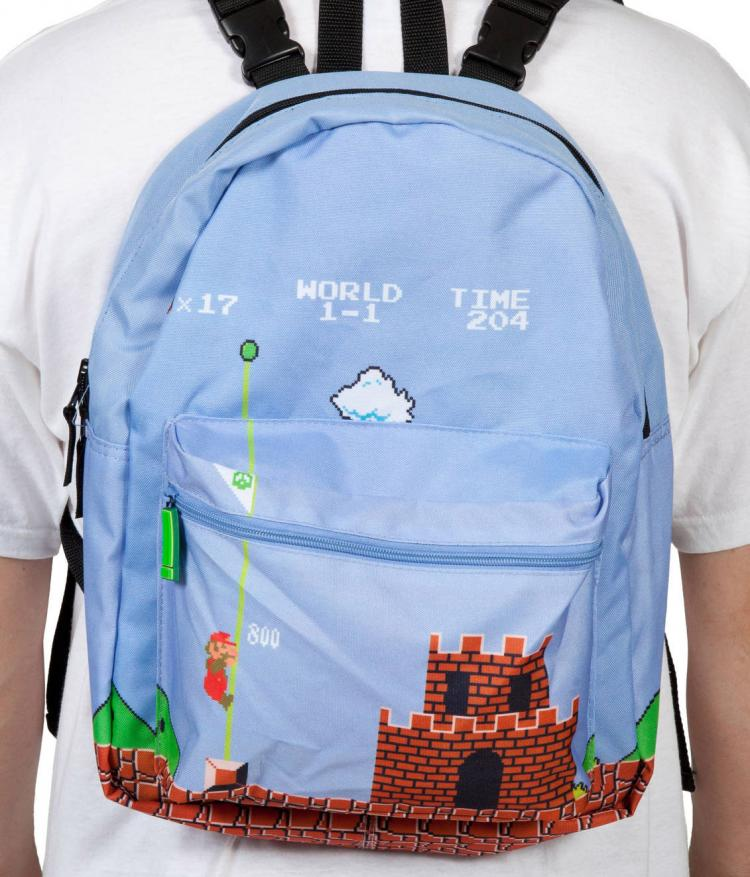 Super Mario Bros Reversible Backpack