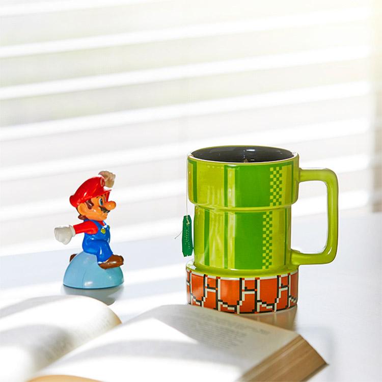 Super Mario Warp Pipe Coffee Mug - Nintendo mug