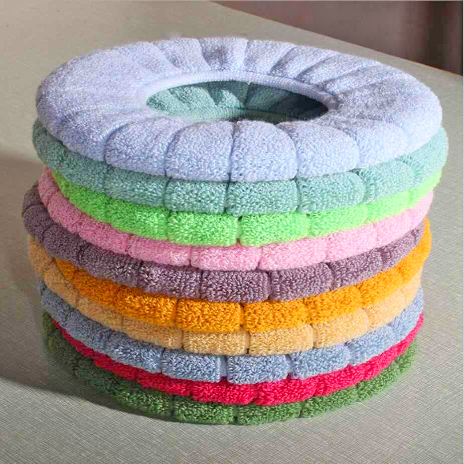 Super Soft Padded Toilet Seat Cover - Fabric warm toilet seat cover