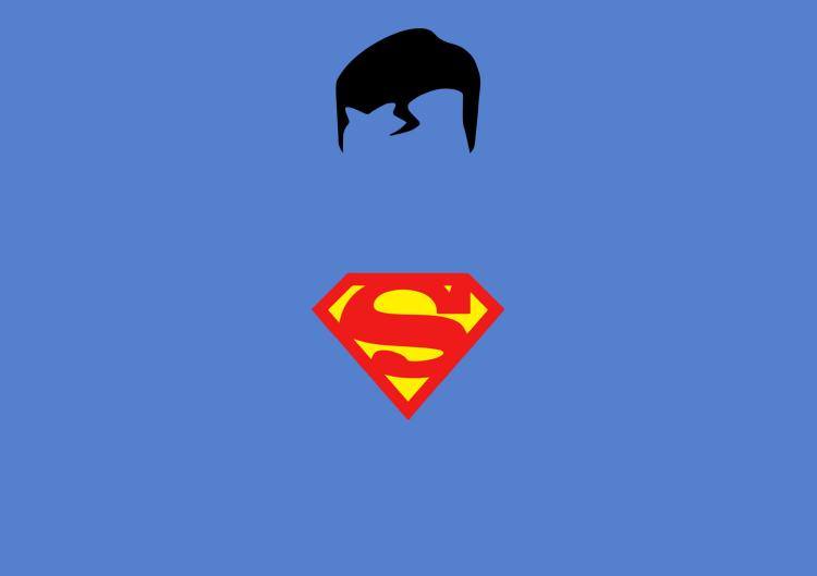 Superman Minimalistic Macbook Decal - Superman minimal design decal with hair