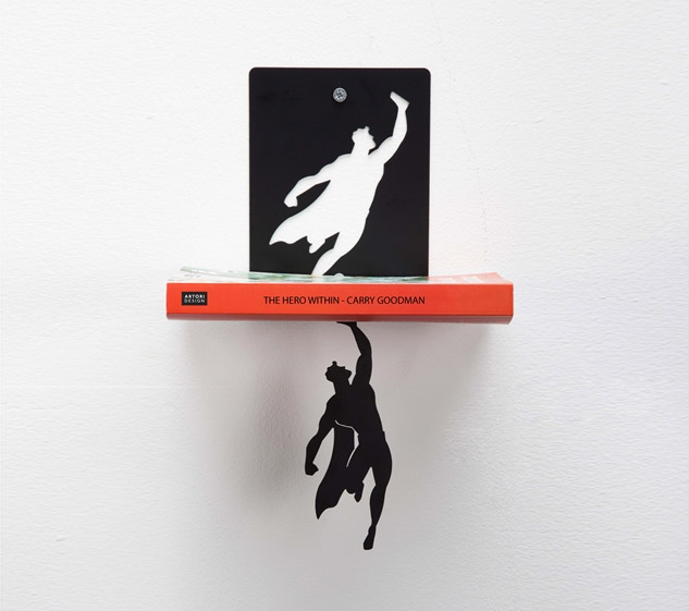 Super Shelf Superman Floating Book Shelf - Superman Book Holder