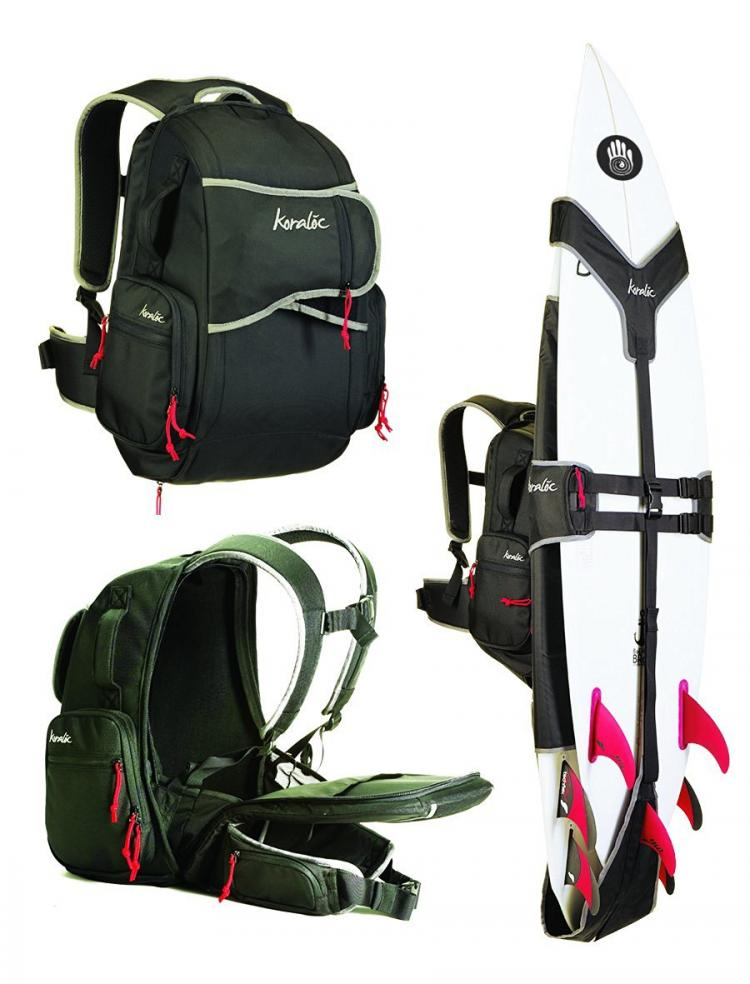 Surf Backpack - Koraloc Surfboard Backpack - Backpack holds 3 surfboards