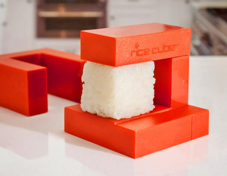 Sushi Rice Cube Maker - Cube shaped rice maker for sushi rolls