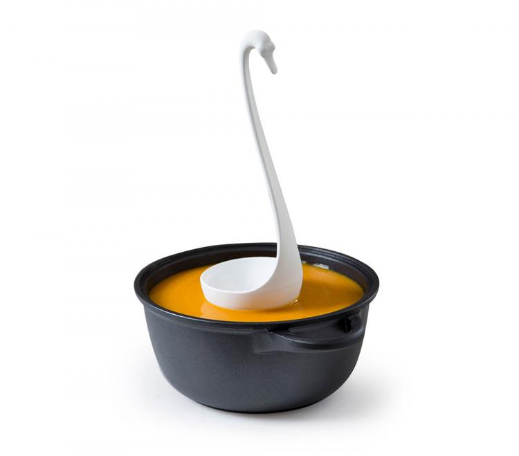 Self-Balancing Swan Ladle - Swanky Swan Floating Cooking Ladle