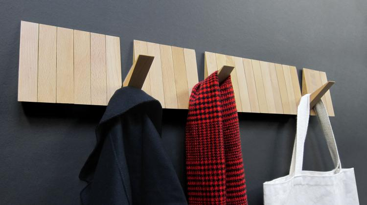 ILoveHandles Switchboard - Sleek modern wooden coat rack