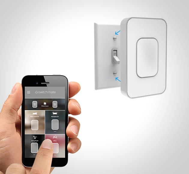 Switchmate - Smart light switch attachment - connects with magnets over you existing light swtich - Easy smart light switch