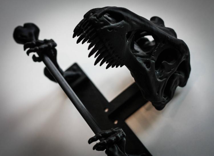T Rex Dinosaur Skeleton Toilet Paper Holder