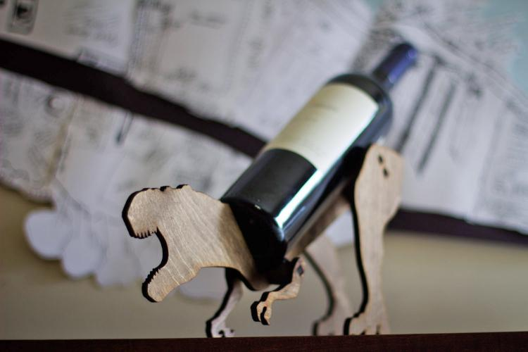 T-Rex Dinosaur Wine Bottle Holder