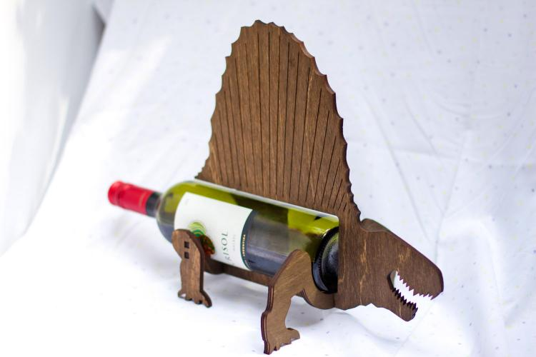 Dimetrodon Dinosaur Wine Bottle Holder