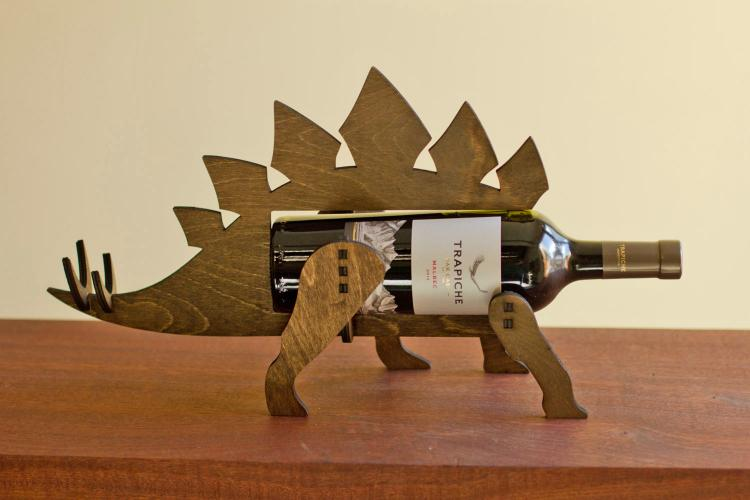 Stegosaurus Dinosaur Wine Bottle Holder