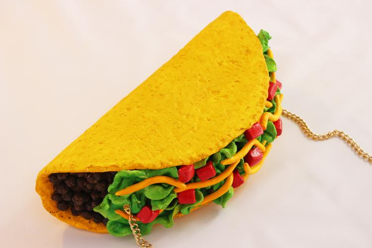 Giant Taco Clutch Purse Bag