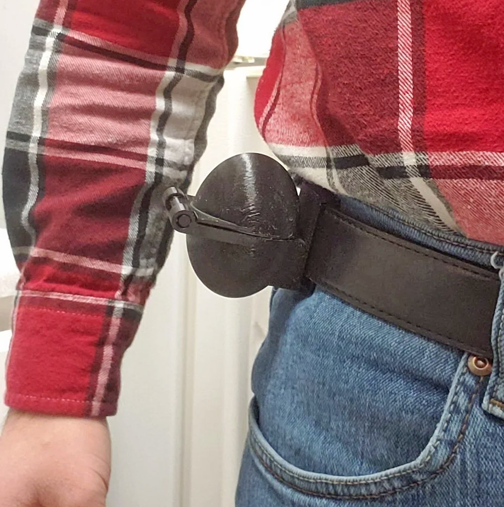 Tactical Belt-Mounted Egg Holster with Latch