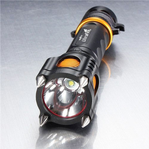 Tactical Self Defense Flashlight With Spikes