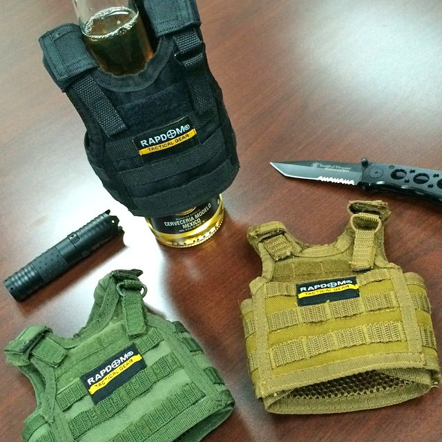 Tactical Vest Beer Koozie - Military Vest Beer Koozie