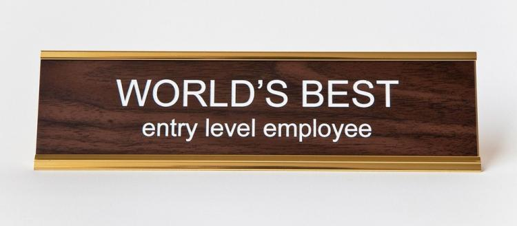 World's Best Entry Level Employee Nameplate