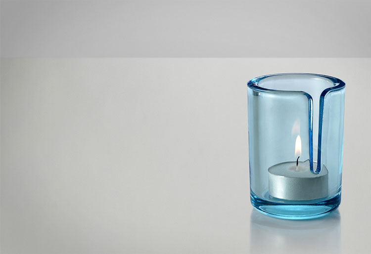 Candle Holder With Match Slot