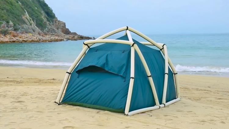 TentTube Inflatable Tent Sets Up In Seconds - Hand pump inflatable camping tent