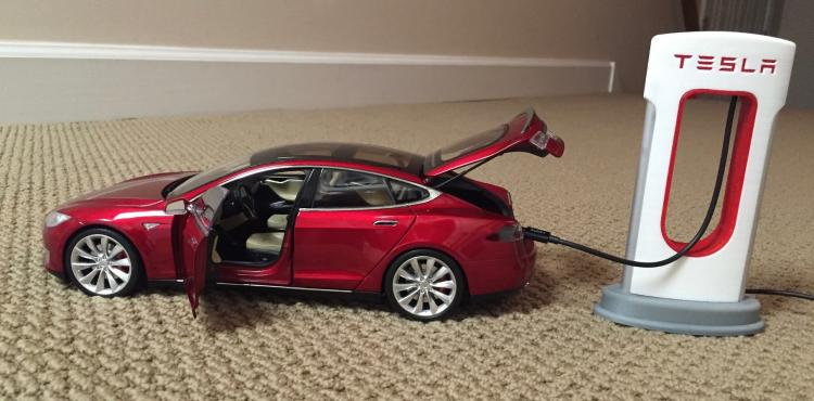 Tesla Phone Charger - Tesla Supercharging Station 3D Printed Phone Charger