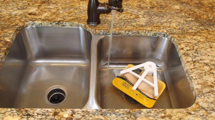Thaw Claw Sink Suction Tool Helps Thaw Meat 7x Faster