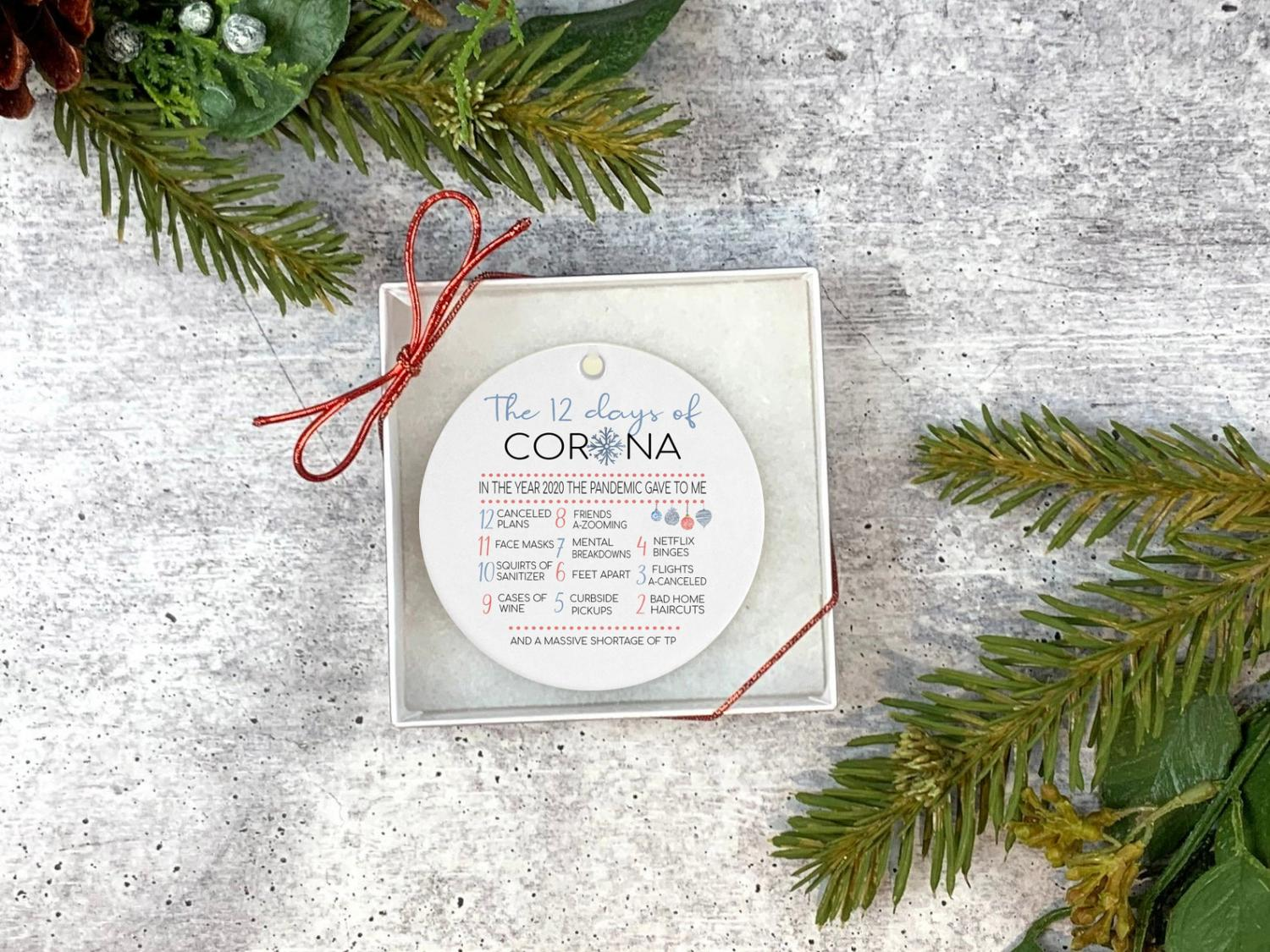 The 12 Days Of Corona Christmas Ornament