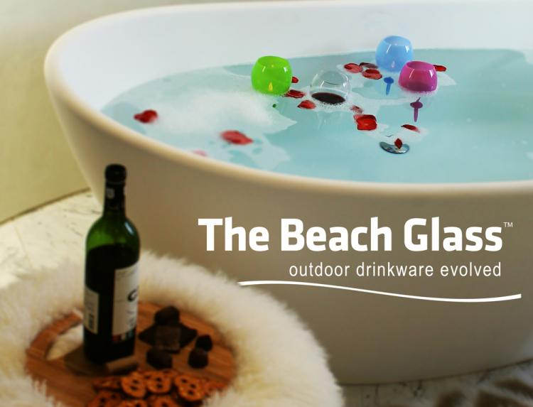 The Beach Glass - Floats In Water - Stabs Into Sand