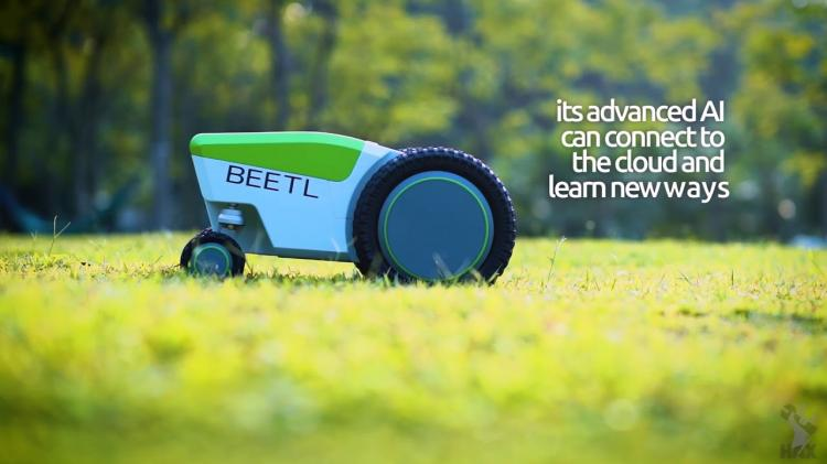 Beetl Autonomous Robot That Finds And Picks Up Dog Poop - Automatic dog poop cleaning robot