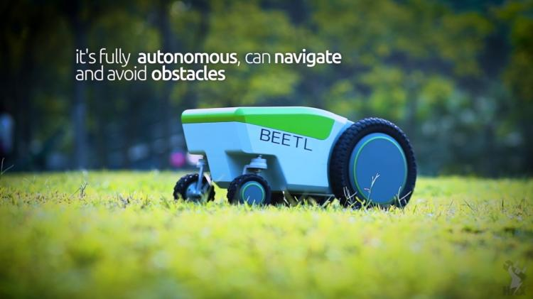 The Beetl Is An Autonomous Robot That Finds And Picks Up Dog Poop