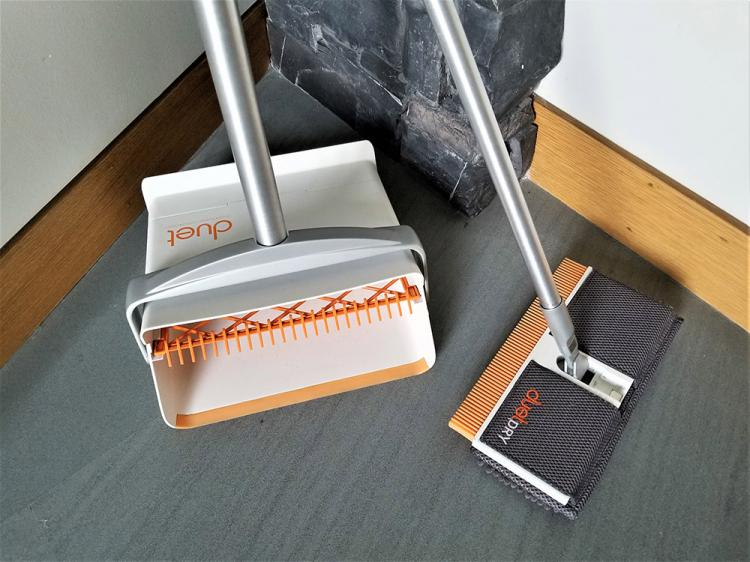 Duet 4-in-1 cleaning broom, mop, and dustpan - all-in-one cleaning broom
