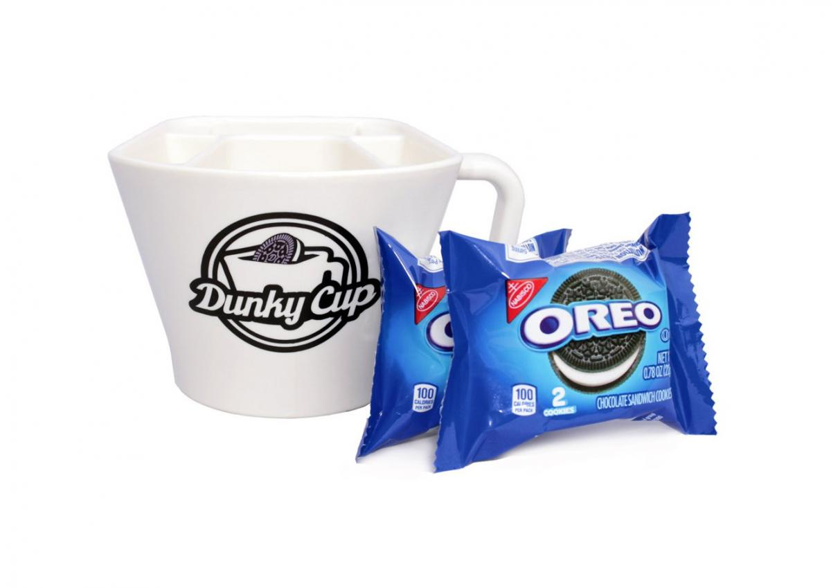 Dunky Cup - Mug holds cookies for milk dunking - Cookie dunking mug