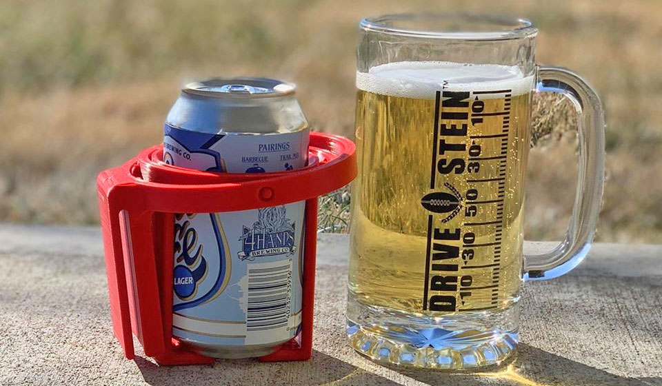 Beer Gimbal Drink Stabilizer - Stabilizes your beer while you wear it on your hip