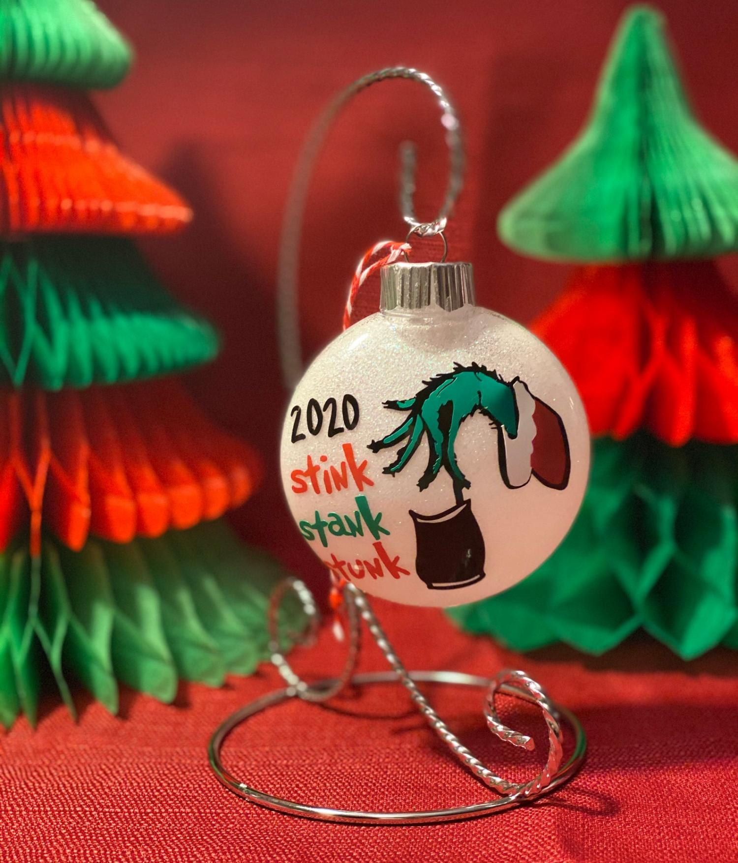 The Grinch Facemask 2020 Ornament Bulb Stink Stank Stunk