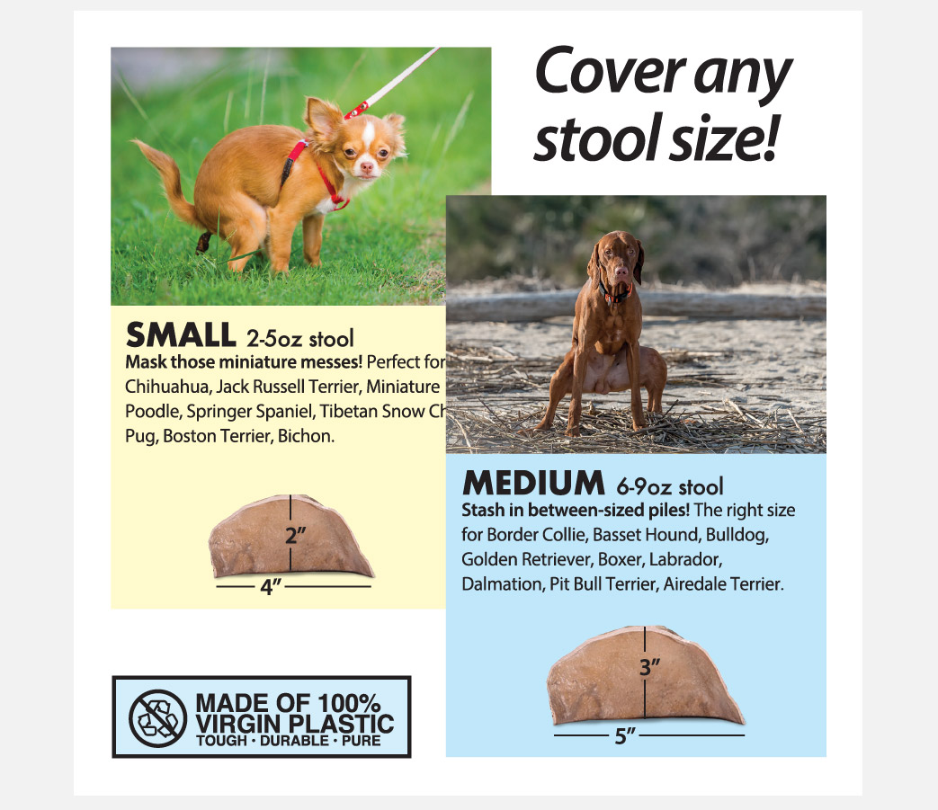 Hide-a-Poo Fake Rock Lets You Hide Your Dogs Poop Instead Of Picking It Up - Funny poop hiding stones prank gift box