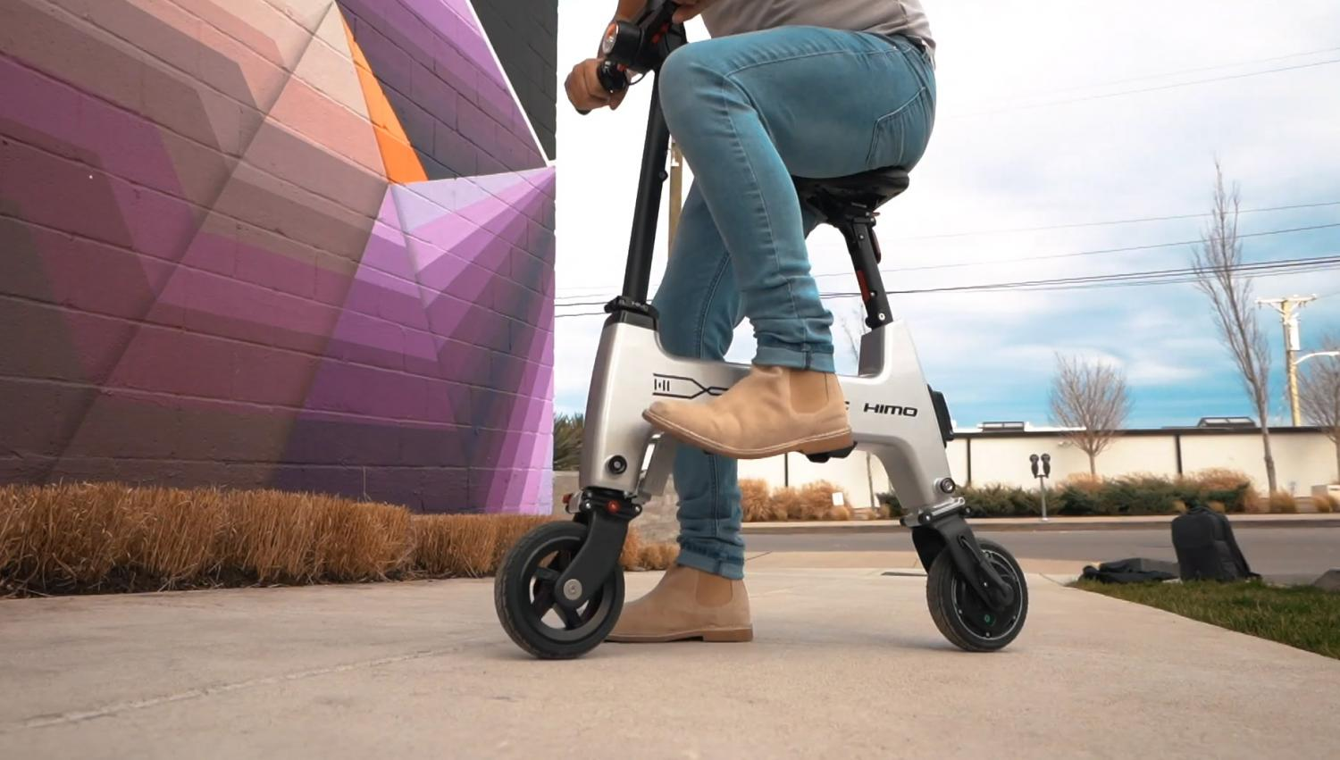 HIMO Folding E-Bike Collapses Down To Fit In Your Backpack - Tiny folding electric scooter