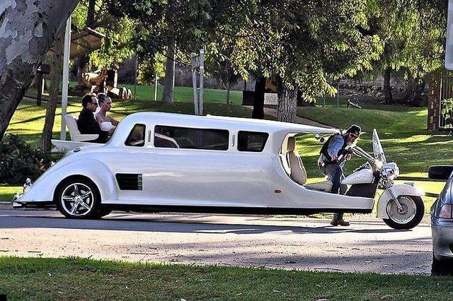 LimoBike Harley Davidson Motorcycle Limousine Hybrid Vehicle - Motorcycle party bus