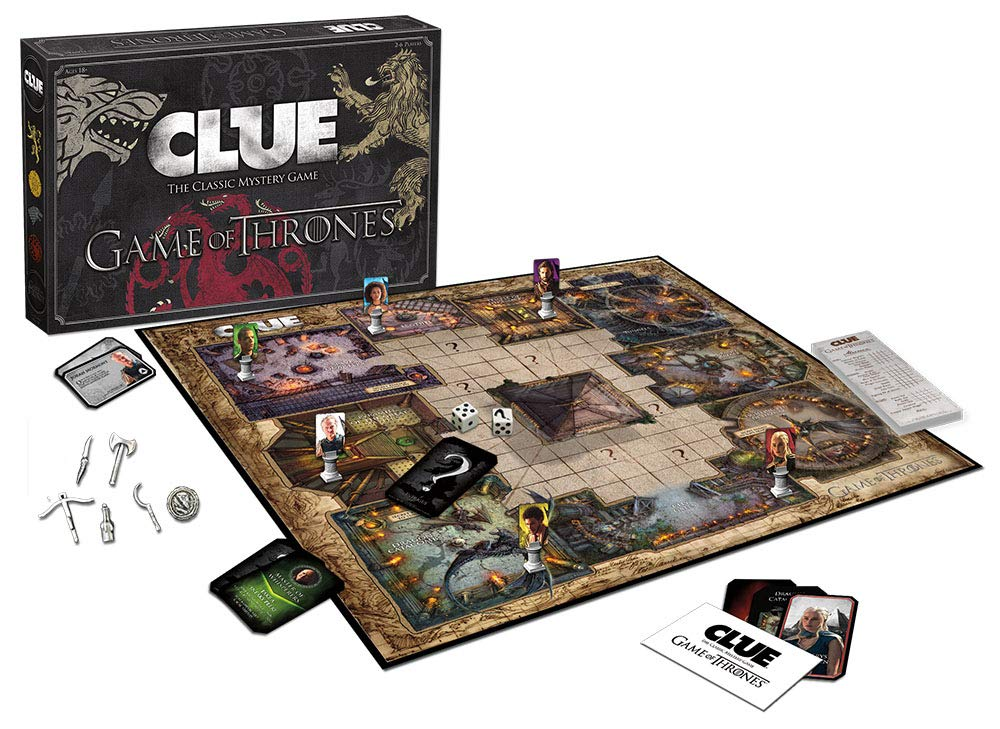 Game Of Thrones Clue Board Game - Game Of Thrones Abbey Edition