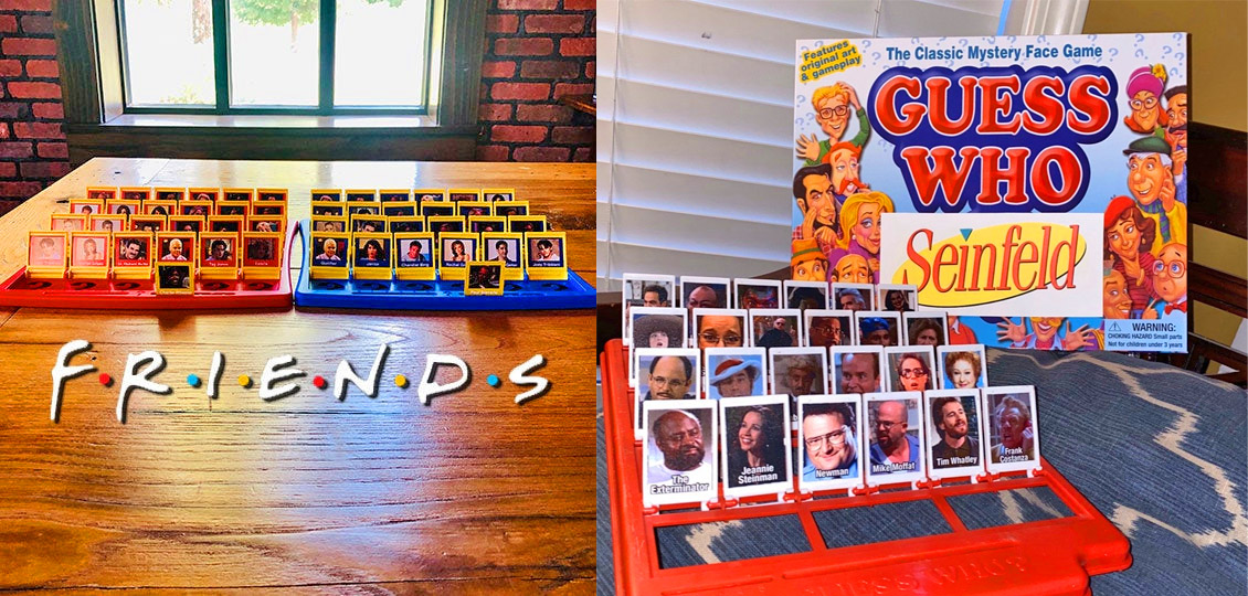 Friends Guess Who Board Game - Seinfeld Guess Who Board Game