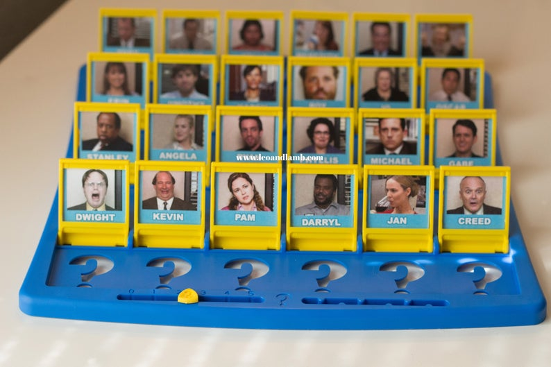 The Office Guess Who Board Game
