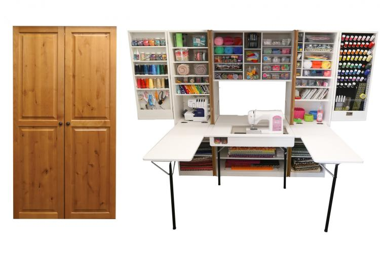 The Original Scrapbox - Incredible Fold-away Crafting Stations - Hidden cabinet crafting area with fold out table