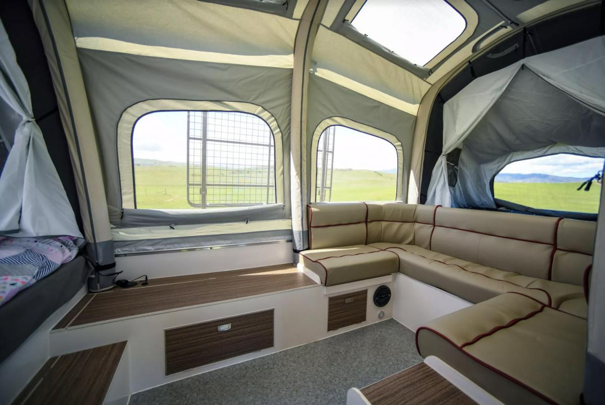 Air-Opus Self-Inflating Camping Trailer - Automatic pop-up camper with kitchen