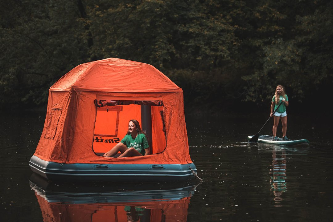 Smith Fly Shoal Tent - Inflatable Floating Camping Tent - Camp on the water on a lake or river