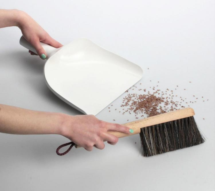 Sweeper and Funnel Dustpan with a Funnel